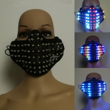 Free shipping Colorful LED Masks Hero Face Guard PVC Masquerade Party Halloween Birthday LED Masks