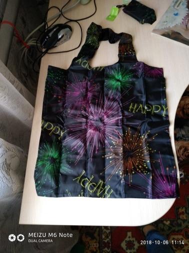 Ecosusi Rose Printing Foldable Reusable Shopping Bags Promotional Bags EcoTote Bag shopping bag photo review