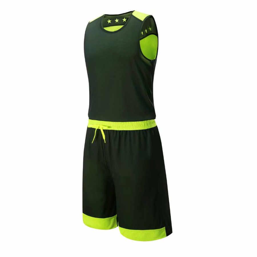 ea299b1bd ... Kids Basketball Jerseys Sets Boy Girls Sport Kit Clothing Uniforms  Shorts Suits Reversible Quick Dry Breathable ...