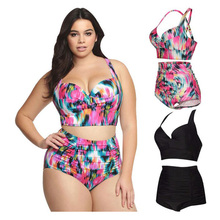Fulaigesi Women plus size swimsuit one piece bikini sexy swimwear with skirt dots 2019 bathing suit swimming beach monokini set