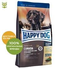 Happy Dog Supreme Sensible Canada корм для взрослых собак всех пород , Лосось, кролик, ягненок, 12,5 кг.