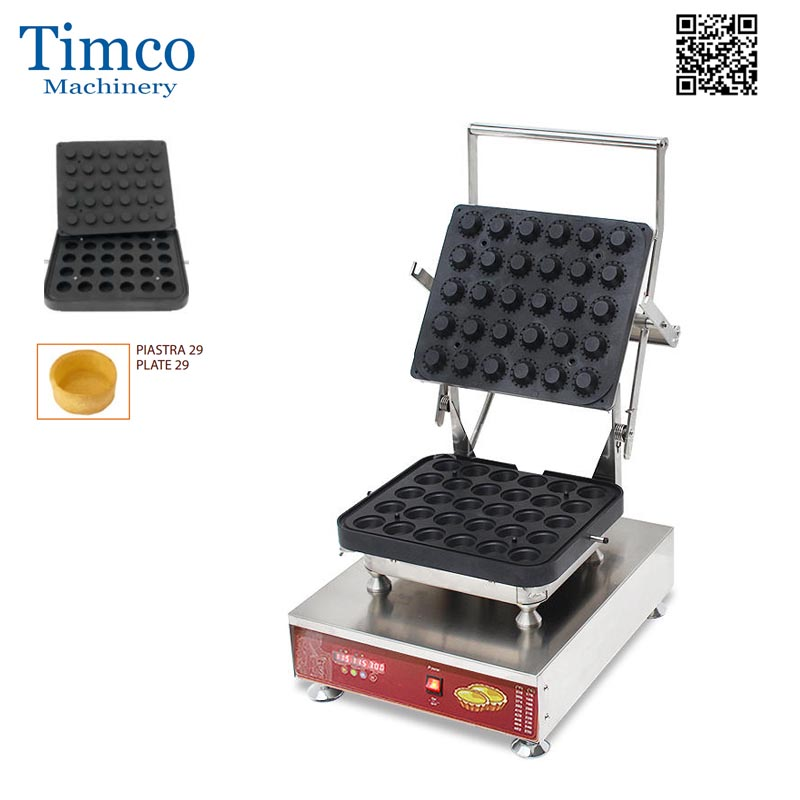 Cheese Egg Tart Baking Machine LED 30pcs Round Shape Tartlet MakerCheese Egg Tart Baking Machine LED 30pcs Round Shape Tartlet Maker