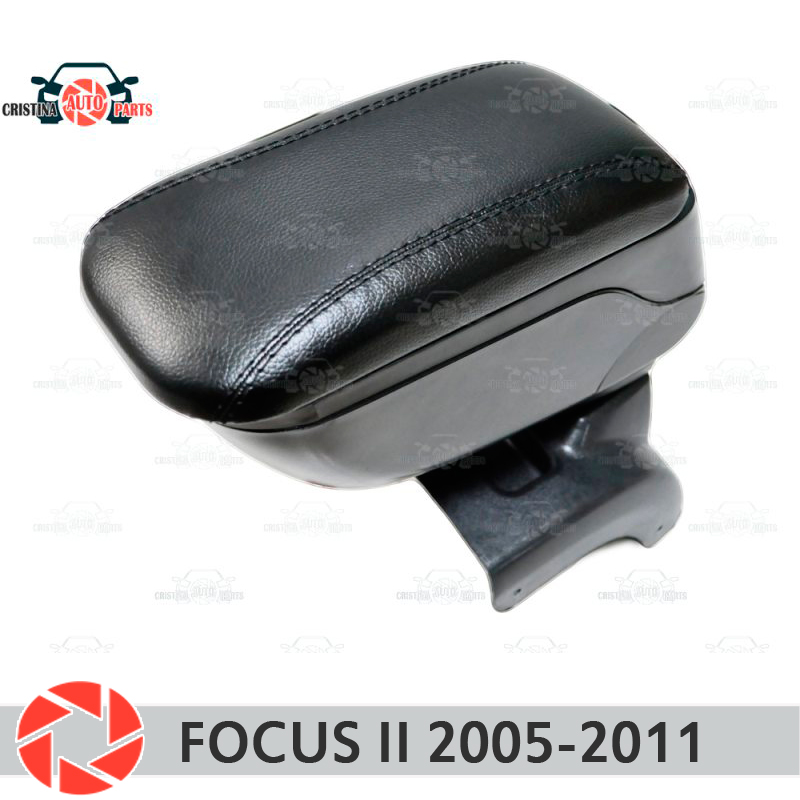 For Ford Focus II 2005-2011 car armrest central console leather storage box ashtray accessories car styling one set 12v drl led car light drl daytime running lights for ford focus 2012 2013 with fog light car styling free shipping d20