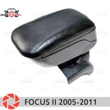 Для Ford Focus II 2005-2011 Автомобильный подлокотник центральная консоль кожаный ящик для хранения Пепельница аксессуары автомобильный Стайлинг