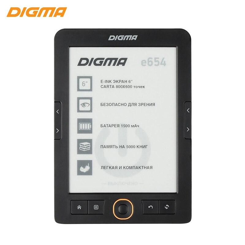 """Купить со скидкой Электронная книга Digma E654 6"""" E-Ink Carta 800x600 600 МГц/4 ГБ/microSDHC графит"""
