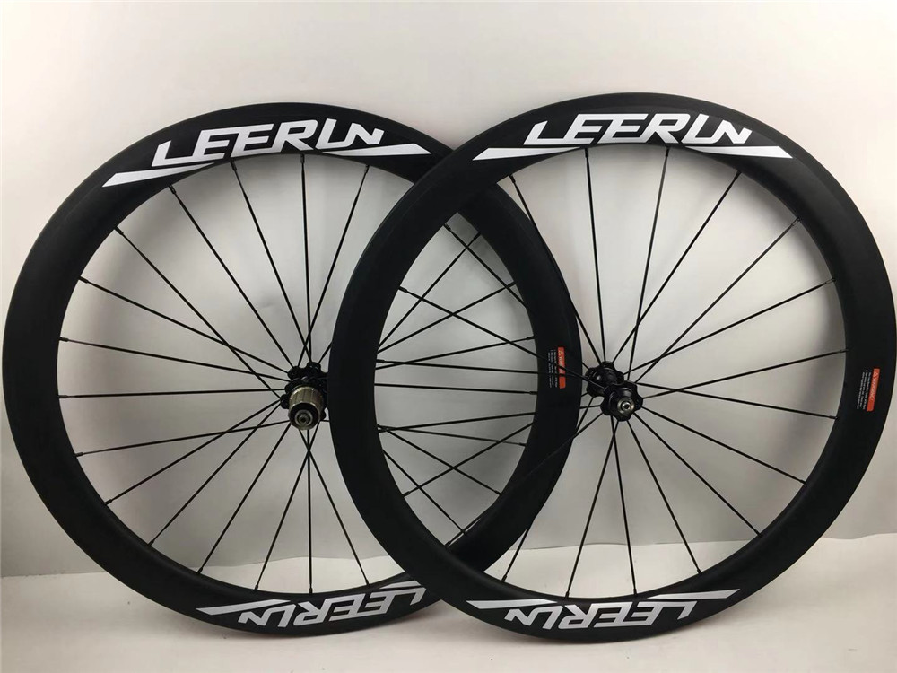 2019 new style LEERUN smart coating carbon road wheels CHINCHER TUBULAR TUBELESS tire type faster and