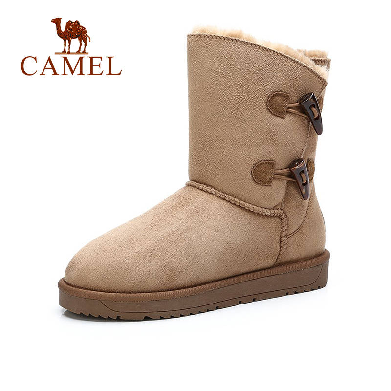 CAMEL Winter Furry Boots 2018 New Fashion Snow Boots Shoes Women Platform Boot Keep Warm Comfortable Plus Velvet Shoes цена