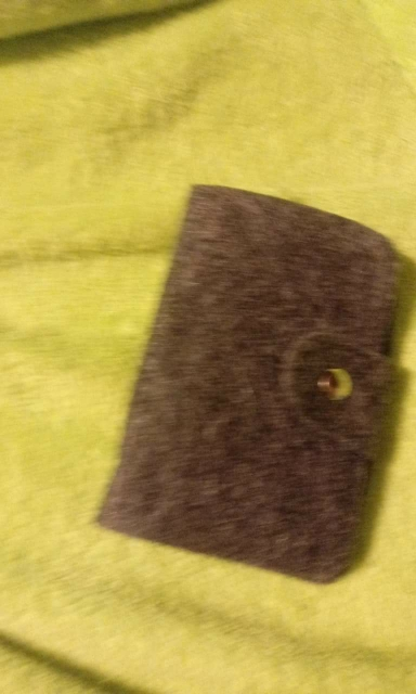 Credit Card Holder/Case Card holder Wallet Business Card Package Wool Felt Bag Cash Holder Organizer photo review