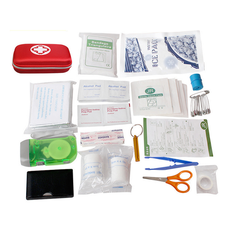 Portable Outdoor Waterproof EVA First Aid Kit for Family or Camping Travel Emergency Medical Treatment Home