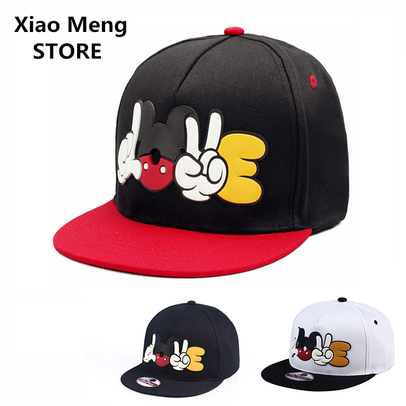 3 color Summer Cartoon Mickey Baseball Caps Bones Adjustable Snapback Hat Unisex Hip Hop Sun Hats For Men Women Casquette M58 boapt unisex letter embroidery cotton women hat snapback caps men casual hip hop hats summer retro brand baseball cap female