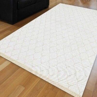 Autre blanc Ogee Spade authentique ethnique Perisan géométrique anti-dérapant Kilim lavable décoratif plaine peinture tissé tapis