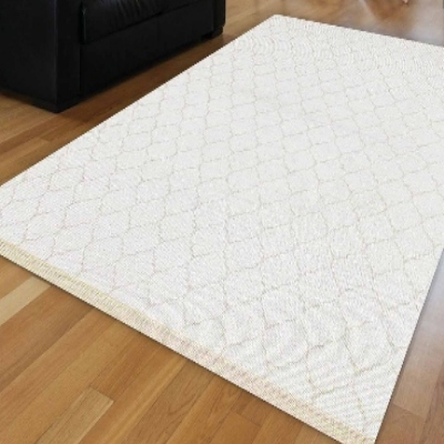 Else  White Ogee Spade Authentic Ethnic Perisan Geometric Anti Slip Kilim Washable Decorative Plain Paint Woven Carpet Rug