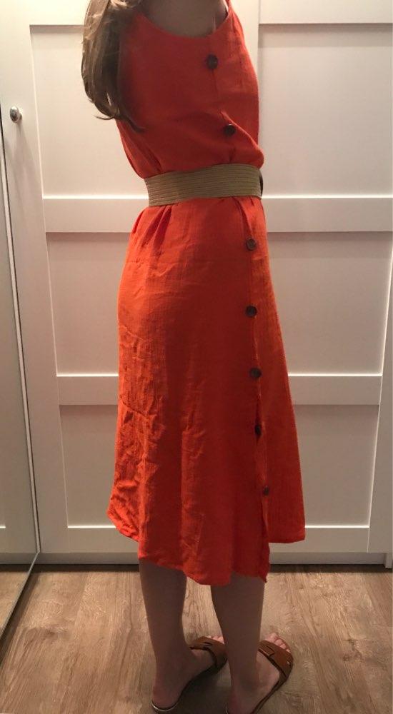 Bohemian Spaghetti Strap Women Midi Dress Beach Style Plus Size V Neck Summer Sundress Elegant Casual Female Dress photo review