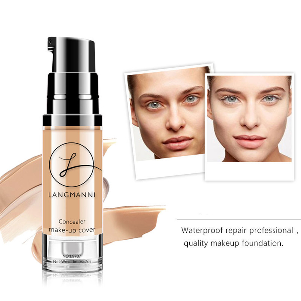 1pc 6ml Makeup BB Cream Concealer Foundation Waterproof Korean Cosmetics Makeup Contour Maquiagem Profissional Completa TSLM1 image