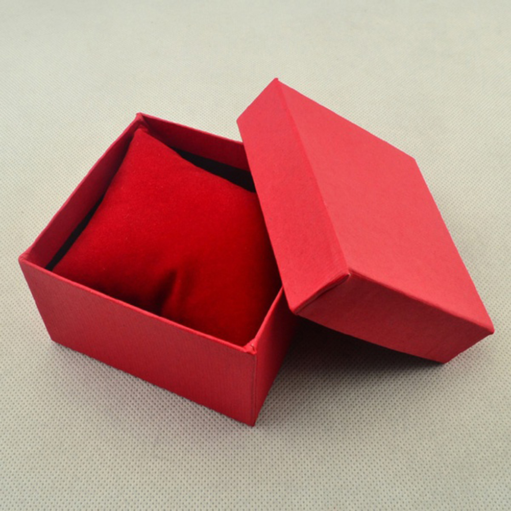 Square Cardboard Storage Case Watch Bangle Jewelry Gift Box With Pillow Pad