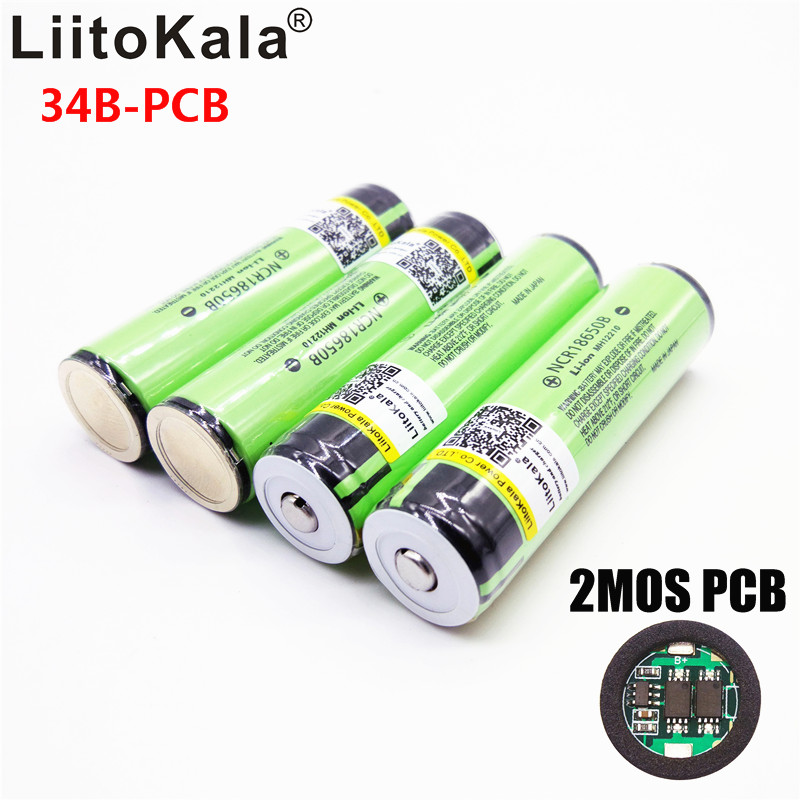 Hot Original LiitoKala 18650 3400mah NCR18650B 3.7 v 3400 mah 18650 Lithium Rechargeable Battery For Flashlight batteries(China)
