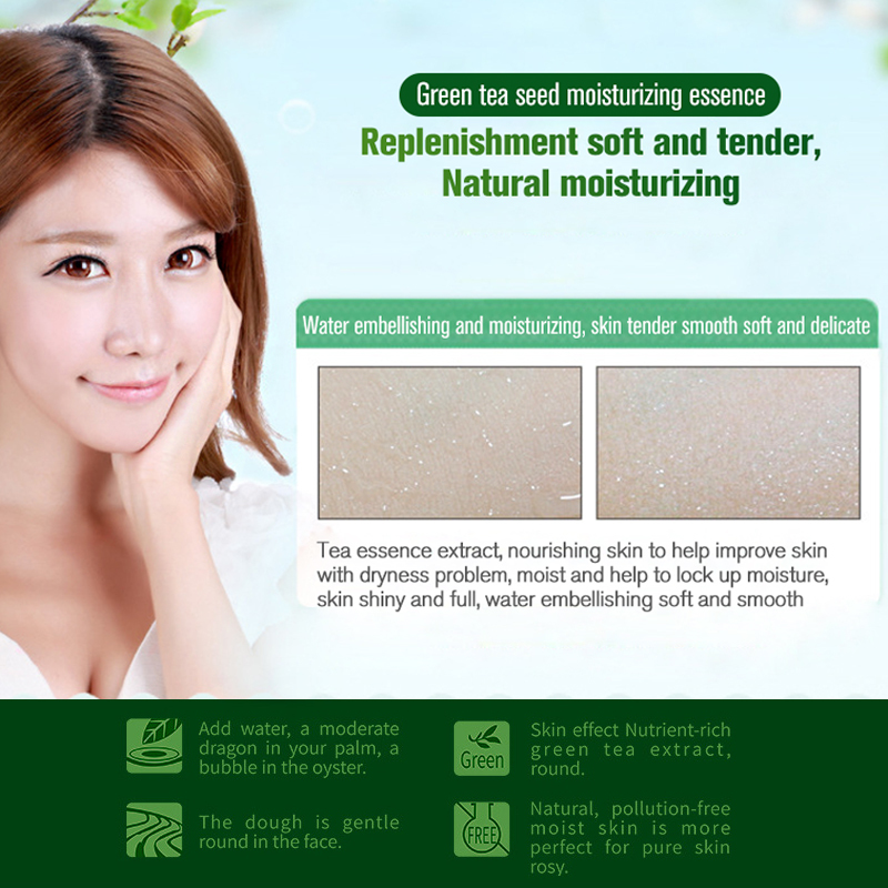 ROREC Moisturizing Green Tea Seed Extract Face Serum Facial Essence Whitening for Face Repair Skin Care Anti Wrinkle Anti aging in Serum from Beauty Health