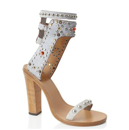 Rom Street Style Schnalle Gladiator Sandalen Nieten Strass Nieten Offene spitze Frauen Pumpen Holz High Heels Damen Schuhe