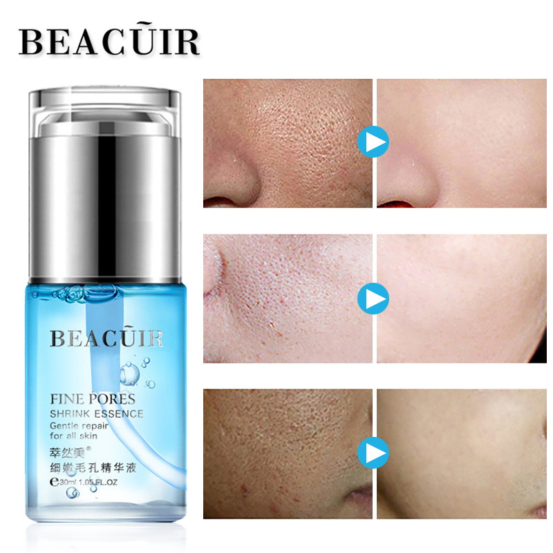 BEACUIR 100% Plant Hyaluronic Acid liquid Moisturizing Face Serum Whitening Shrink Pores Skin Care Anti Aging Anti Wrinkle Cream 4pcs set skin care set shrink pores moisturizing anti aging anti wrinkle eye cream lotion toner cleanser whitening face cream