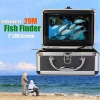 Böbing Novo F002MD 7 polegadas Tela HD Câmera Subaquática Inventor Dos Peixes À Prova D' Água Com 20 M de Cabo E Adaptador Euro/eua Adaptador de Pesca