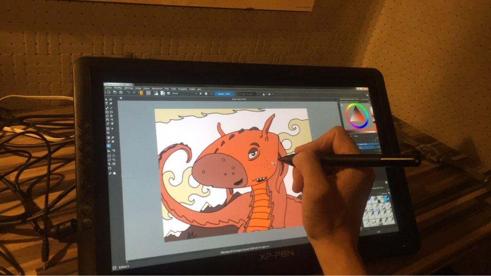 XP-Ручка Artist16 15.6 Дюймов IPS Рисунок Монитор Перьевой Дисплей графический Планшет с Сочетания Клавиш