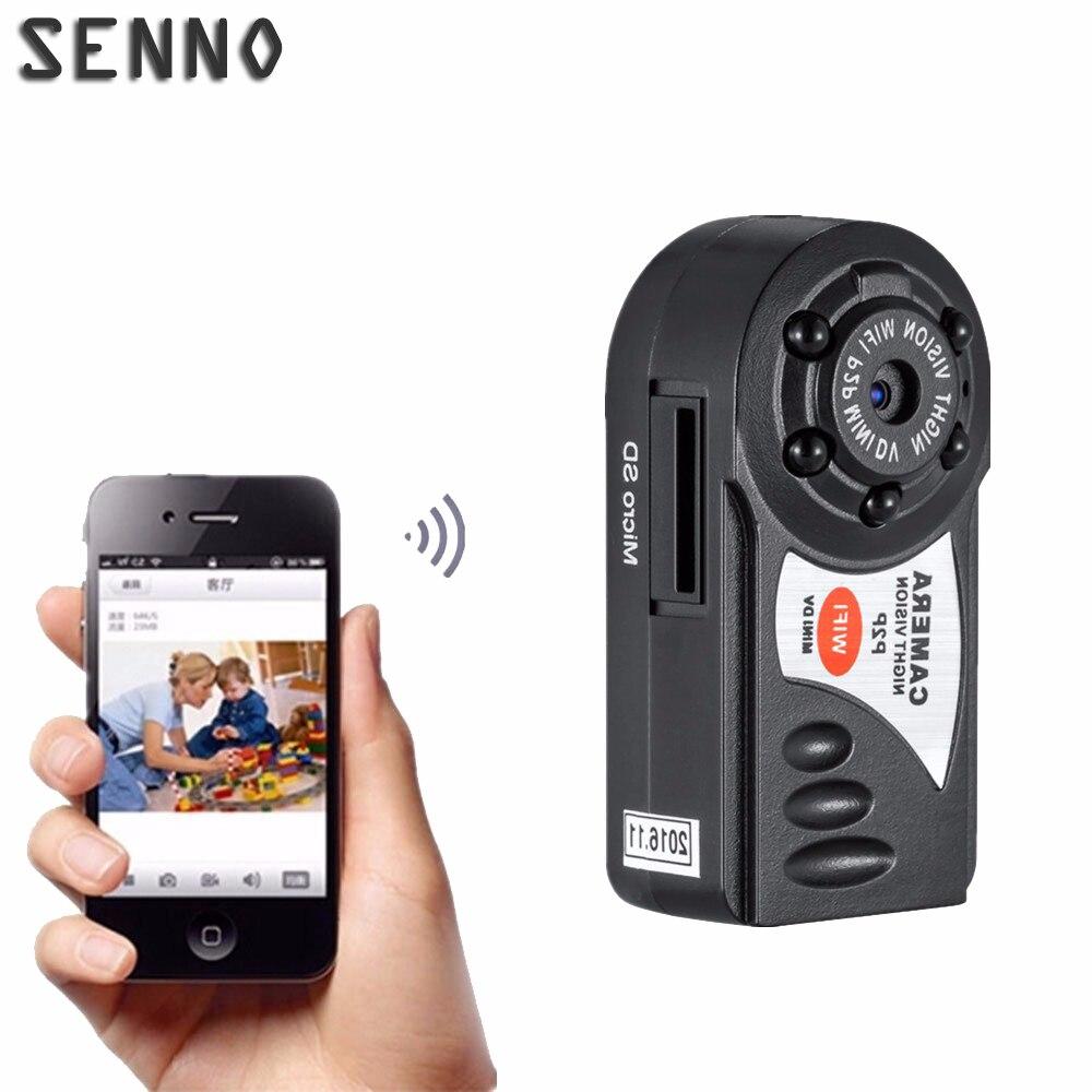 Q7 The Smallest IP Camera 480P Wifi DV DVR Wireless Mini Camera Video Camcorder Recorder Infrared Night Vision Camera 640*480