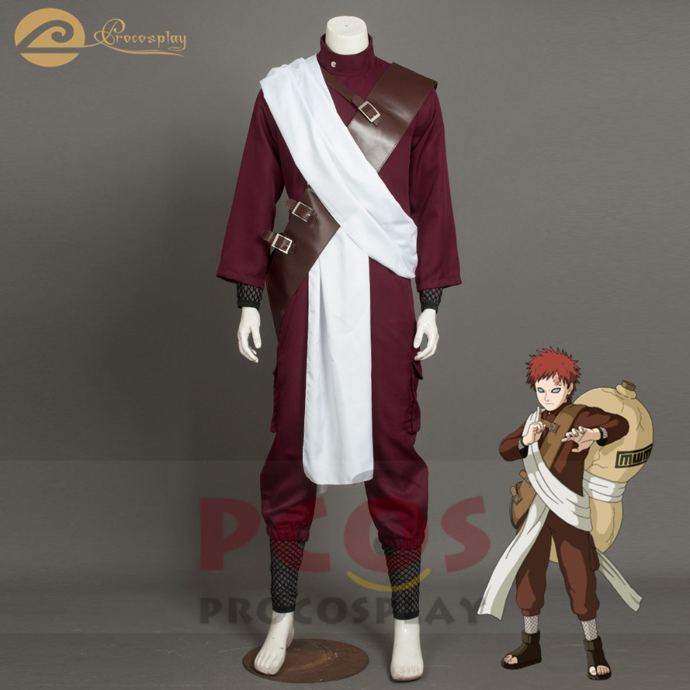 Procosplay Naruto Sand Gaara Vs Kimimaro Cosplay Cool Handsome Set Hallowen Costume For Men повязка наруто одежда Mp003934
