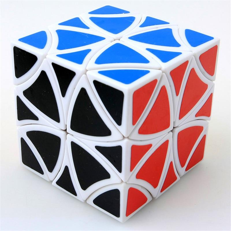 PVC Sticker Twisted Puzzle Magic Cube Hexahedron Puzzle Cube Flower Rex Magic Cubes Boys Toys Cubo