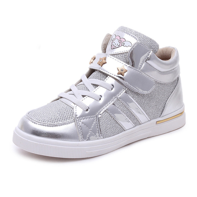 Children Sneakers Girls Shoes Casual Boots 2017 Kids Running Shoes for Girls  Cute Cat Girls Designer
