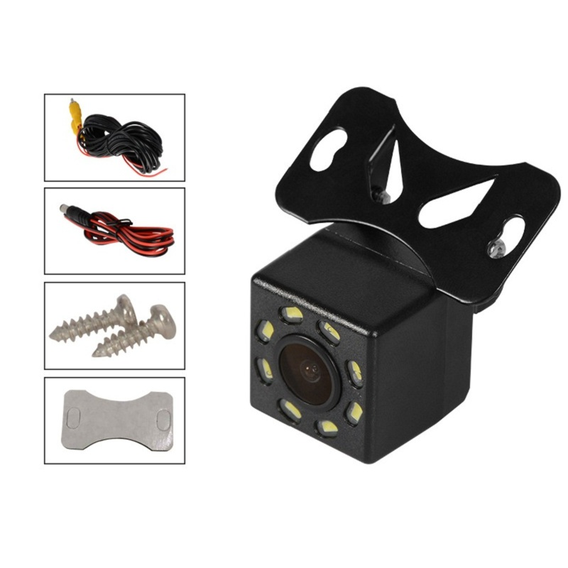 Car car camera Universal adjustable external with 8LED lights night vision reversing rear view camera 1 set in Side Window Sunshades from Automobiles Motorcycles