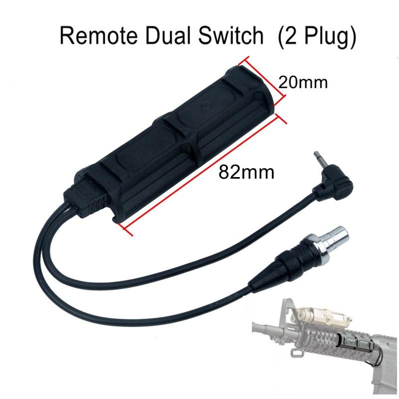 Night Evolution Remote Dual Switch (2 Plug) Tactical Military Pressure Pad Switch Quality Flashlight Accessory PEQ