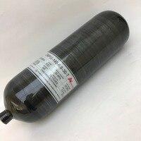 2017 New Design 4500Psi 6 8L Black Composite Carbon Fiber SCBA Air Cylinder For PCP Rifle