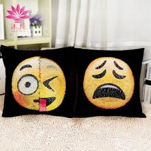 muchun Christmas Emoji DIY Pillow Case 40*40cm Home Textiles Decorative Square Party/Home Throw Cover