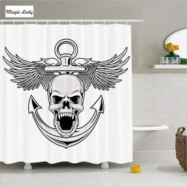 Online Shower Curtain Skull