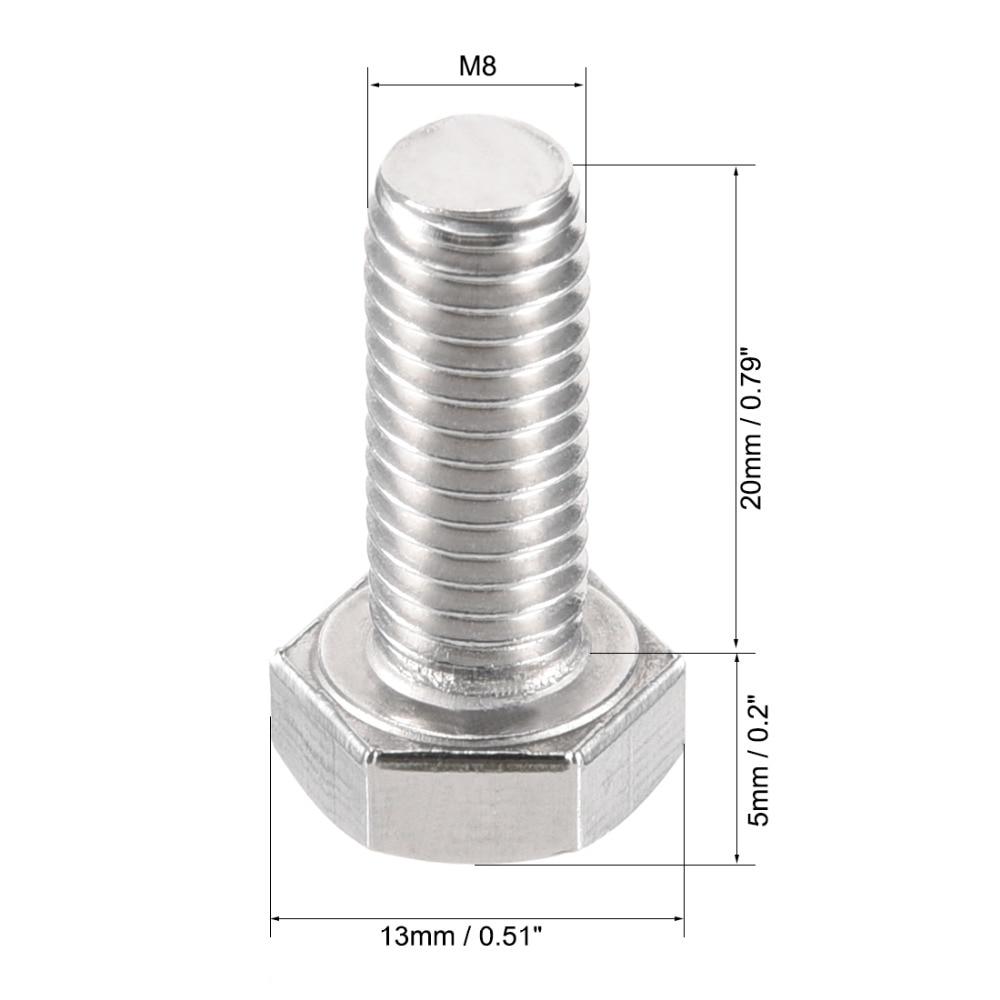 uxcell 304 Stainless Steel Shoulder Bolt 13mm Shoulder Dia 20mm Shoulder Length M10 Thread 2PCS