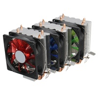 Dual LED CPU Fan Heatsink Radiator 9cm For Intel LGA775 1155 1156 1150 AMD High Quality