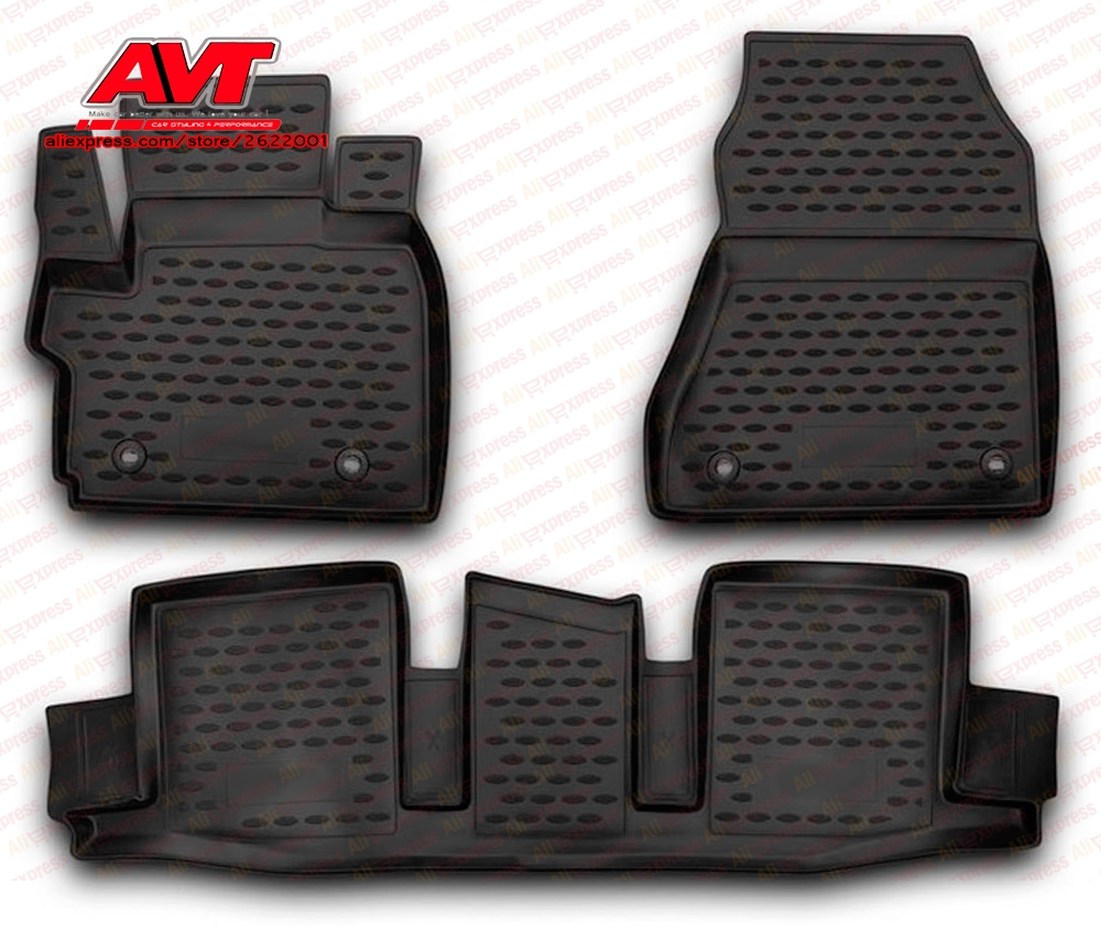 Floor mats for Toyota IQ 2008 4 pcs rubber rugs non slip rubber font b interior