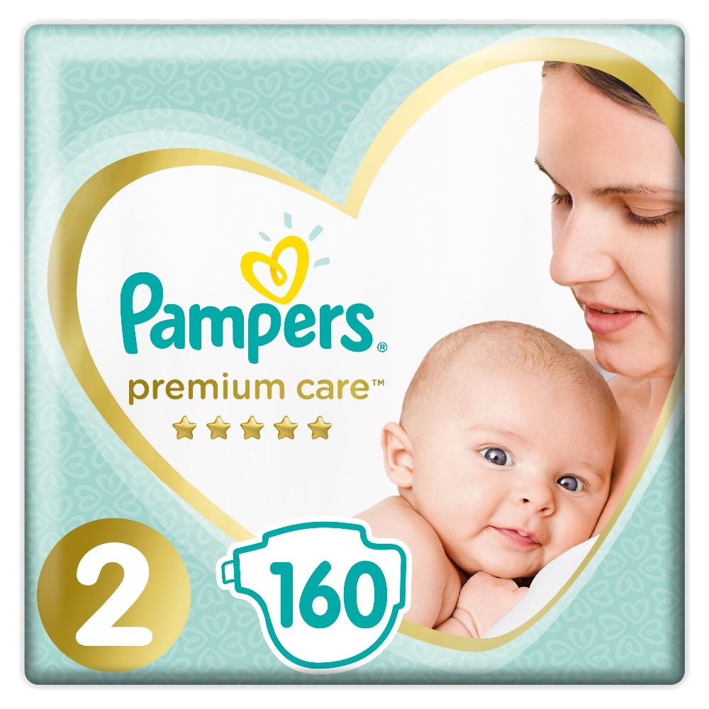 Diapers Pampers Premium Care 4 8 Kg Size 2 160 Pcs In