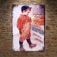 1 шт. шоколадный вкус это магазин французский Олово таблички знаки настенные таблички украшения Винтаж дропшиппинг Плакат Металл