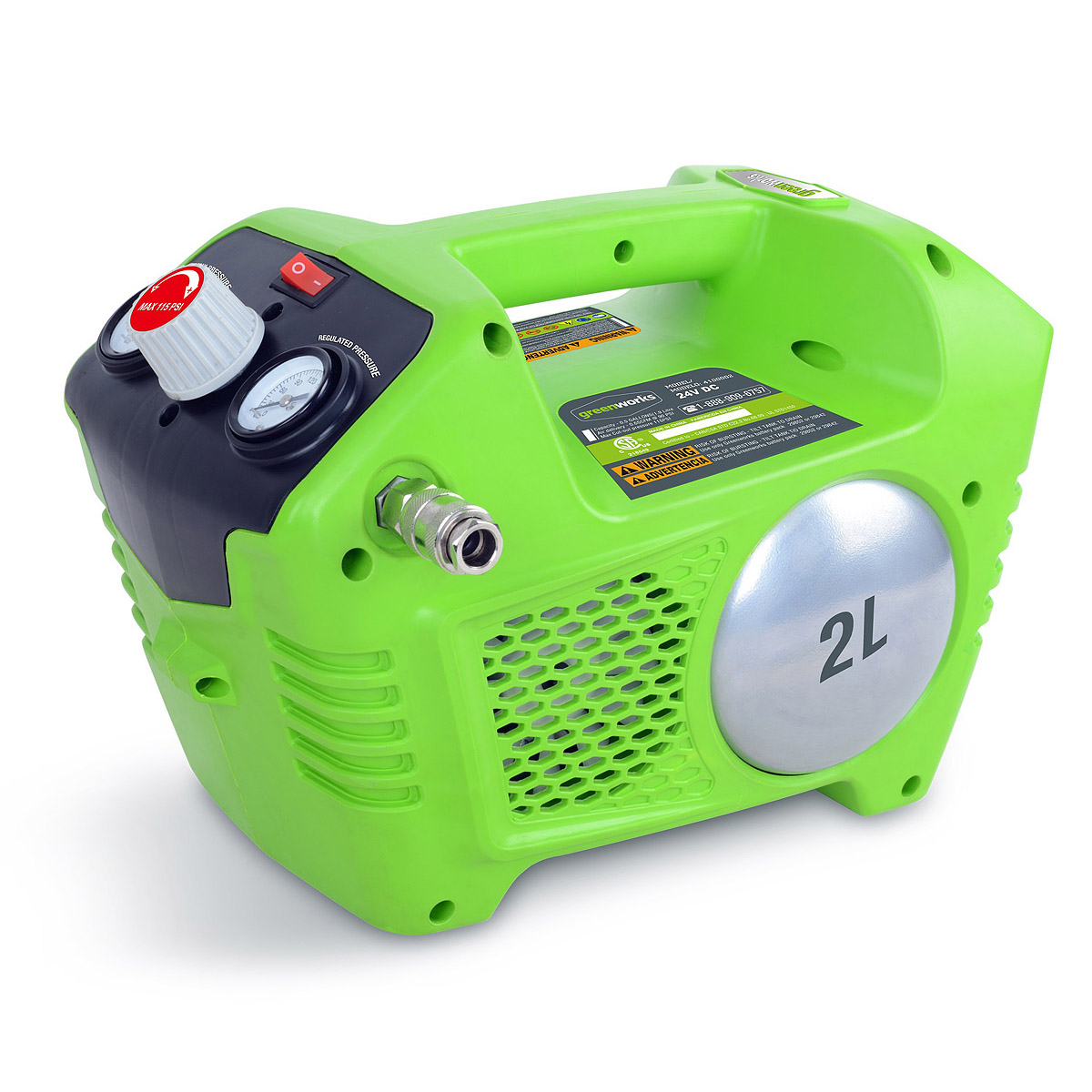 Battery air compressor Greenworks G24AC 24V without battery and charger