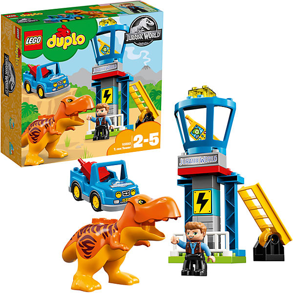 Designer  Constructor LEGO DUPLO 10879 T-Rex Tower children toys blocks construction child 8005842 фигурка затейники союзмультфильм gt5851 попугай кеша