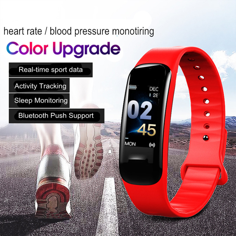 Wearpai C1Plus Fashion ColorScreen Wristwatch Water Resistant Autodate  HeartRate Monitor Fitness Smart SportWatch For Women