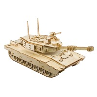 Kids toys 3D Puzzle wooden toys Wooden Puzzle Educational toys for Children M1 ABRAMS TANK