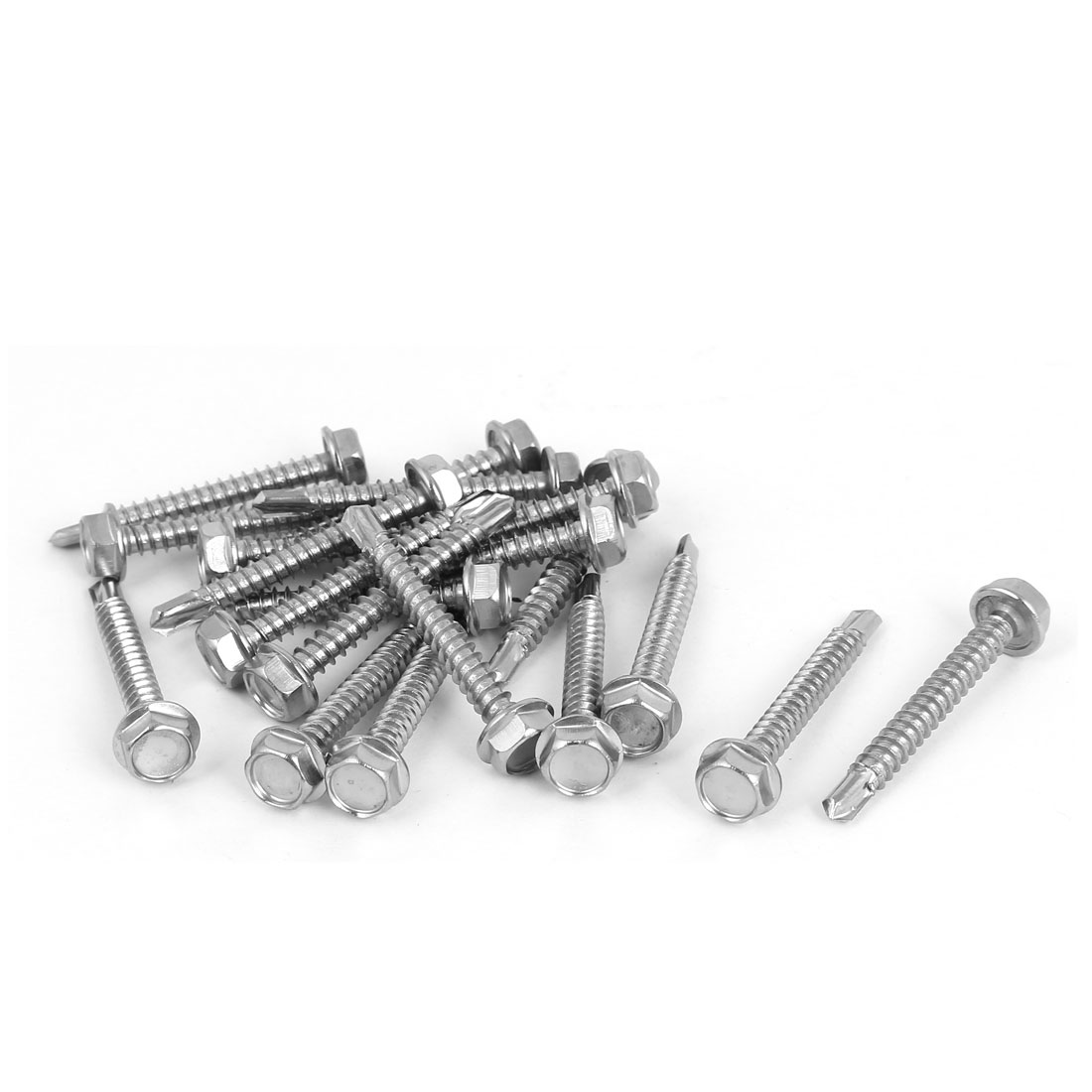 uxcell 25mm x 4mm Thread Diameter Stainless Steel Crosshead Self Tapping Screw 20Pcs