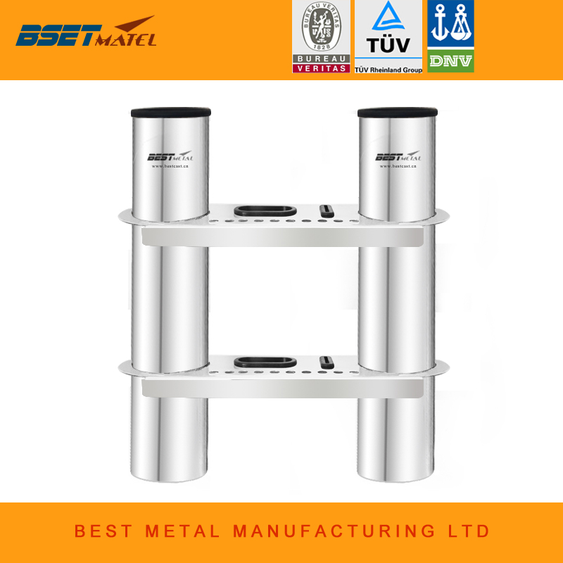 2 Tubes Link stainless steel 316 fishing rod holder fishing rod socket rack for boat marine fishing box kayak boat yacht