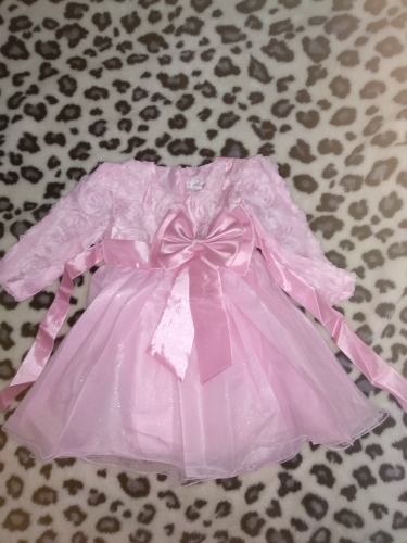 Newborn Baby Girl 1 Year Birthday Dress Petals Tulle Toddler Girl Christening Dress Infant Princess Party Dresses For Girls 2T