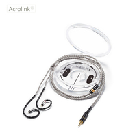 Acrolink 1.2m High Qulity PCOCC DIY Upgraded Earphone Cable Repair Replacement With 0.78mm 2 Pins Interface For 2.5 XLR