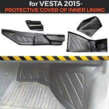 أغطية حماية لـ Lada Vesta 2015 من نفق داخلي وتحت أقدام زينة زينة حماية من السجاد تصفيف السيارة الداخلية