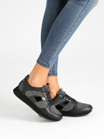 Casual shoes with lurex
