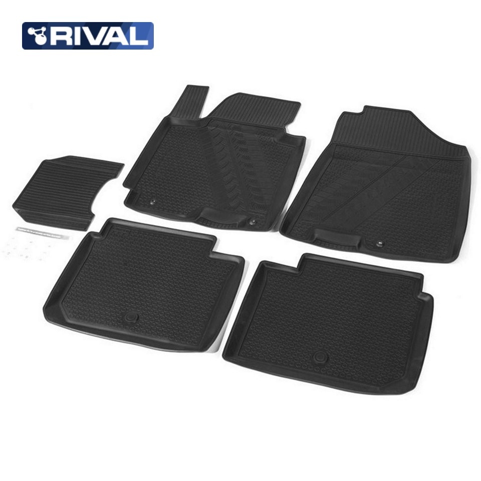 for Kia Cerato III 2013-2018 floor mats into saloon 5 pcs/set Rival 12802001 full set cables for digiprog iii odometer programmer